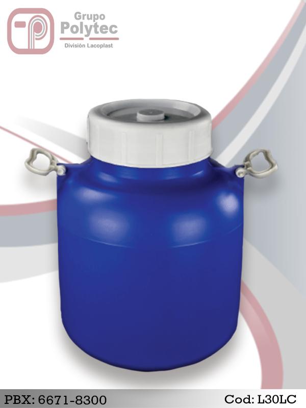 Lechero 30 litros Comercial-Productos-Plásticos-Barriles-Tambos-Tarros-Toneles-Botellas-Cilindros-para-Alimentos-Farmacos-Bebidas-Quimico-Envases-Plasticos-Lacoplast-Polytec