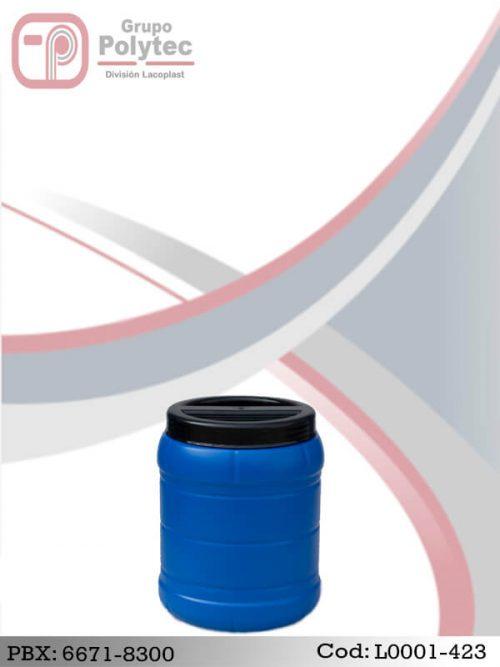 ENVASE REDONDO BOCA ANCHA 5 LITROS - Fabrica - Envases Plasticos - Atoleros - Lacoplast - Polytec - Distribuidor - L0001-423